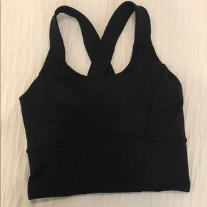 Lululemon Black Beat the Heat Crop Top/Long Bra